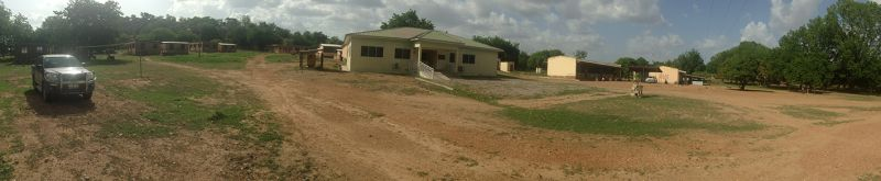 Panorama of Chiana Health Center in the western corridor of Kassena-Nankana Districts, Ghana. Photo credit: Will Hamilton.