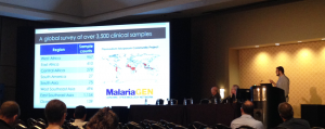 Roberto Amato presents P. falciparum Community Project findings at ASTMH 2014