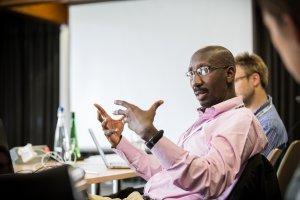 Prof Abdoulaye Djimdé, GEM Retreat 2015 at the Wellcome Genome Campus Conference Centre. Photo credit: Thomas Farnetti.