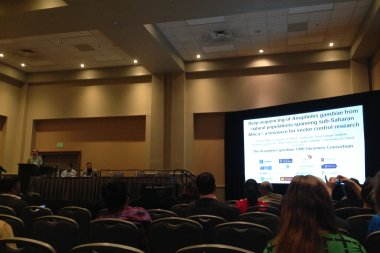 Alistair Miles presenting Ag1000G findings at ASTMH 2015. Photo credit: Rachel Giaccomantonio.