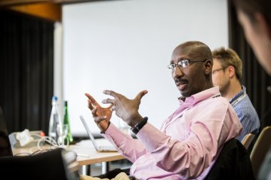 Prof Abdoulaye Djimdé, GEM Retreat 2015 at the Wellcome Genome Campus Conference Centre. Photo credit: Thomas Farnetti.