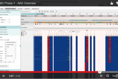 Screen capture from a video introduction to the Ag1000G web application.