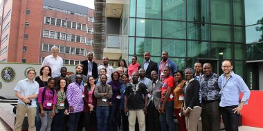Group photo: Genomic Epidemiology of Africa Course. Photo credit: Tommy Carstensen.