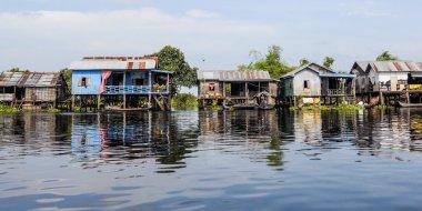Stilt houses near the Prek Toak floating village, Sangker River, Cambodia. Photo credit: Dr Roberto Amato.