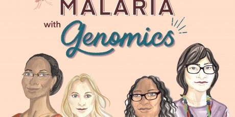 Nina Chhita draws women fighting malaria with genomics