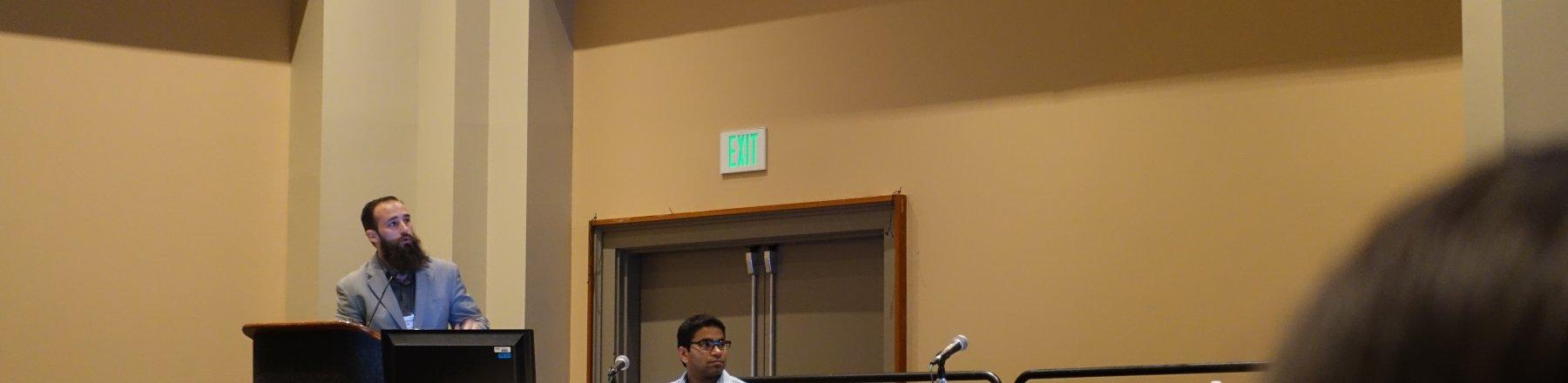 Chris Jacob presenting at ASTMH 2015. Credit: Victoria Cornelius.